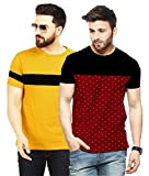 Leotude Men's Regular Fit Cotton Combo T-Shirt (Pack of 2)