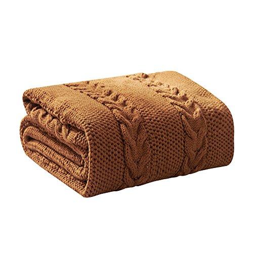 YXNN katoenen geweven deken, superieur gekamd katoenen bankje, groot formaat(130x170cm) extra zacht gooit deken voor bed, bank