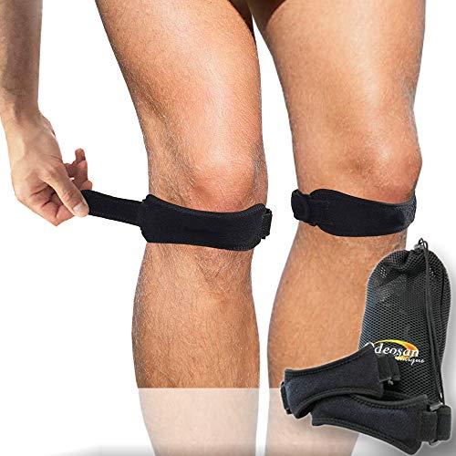Odeosan Clinique Pack 2 Rodillera Ajustable | Set Protector y Estabilizador Rodilla | Prevenir o Curar Dolores y Lesiones | Estabilizador de Articulación | Máximo Rendimiento Total Movilidad