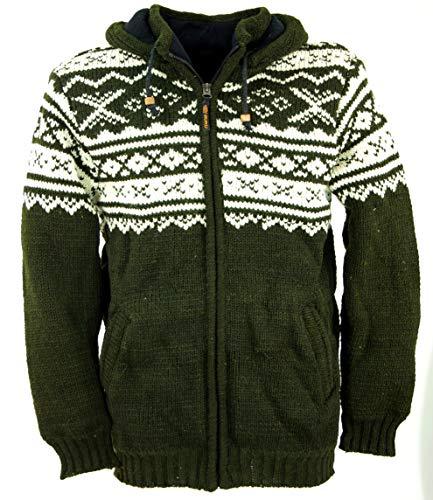 Guru-Shop, Vest met Noors Patroon, Wollen Jack, Nepal Jacket, Jassen, Vesten en Poncho`s