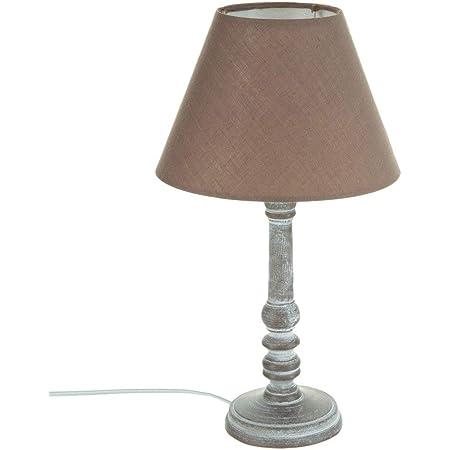 Lampe à poser - Style romantique - Coloris TAUPE patiné Hauteur 36cm