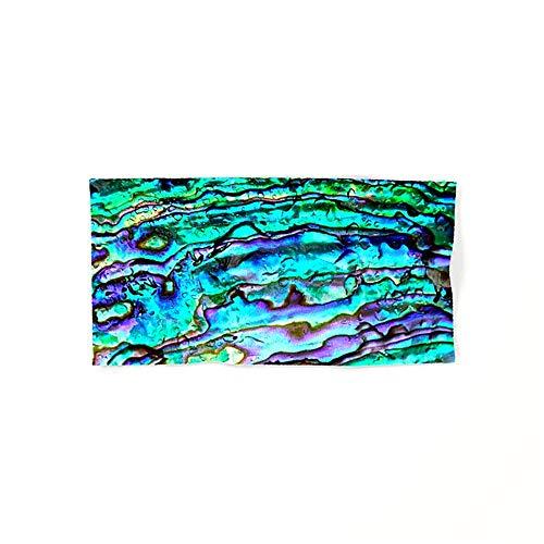 DearLord Glowing Aqua Abalone Shell Mother of Pearl – klein, leicht und Ultra saugfähig - das perfekte Sporthandtuch, Reisehandtuch, Microfaser-Badetuch, XXL Strandhandtuch, Sauna Microfaser Handtuch