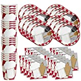 Chef Cooking Birthday Party Supplies Set Plates Napkins Cups Tableware Kit for 16