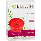 BariWise Low-Carb High Protein Diet Gelatin - Raspberry (7 Servings/Box) - Fat Free, Sugar Free, Low Carb, Low Calorie, Aspartame Free