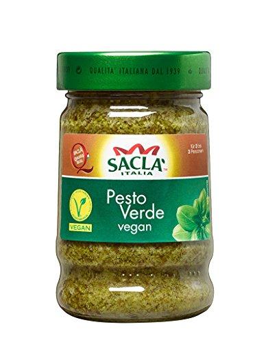 Saclá Pesto Verde, Vegan, Im Glas, Pesto-Set, Zum Verfeinern von Pasta und anderen Speisen, Servierfertig 190g