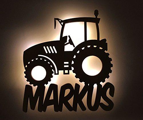 """Schlummerlicht/Nachtlicht\""""Traktor\"""" personalisiert mit Namen - Optional mit Zugschalter und Lackierung"""