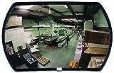 See All PLXO2030 Round Rectangular Acrylic Outdoor Convex Security Mirror, 30
