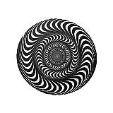 WOTEG Alfombra de ilusión tridimensional en blanco y negro,...