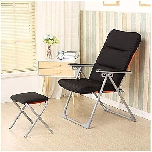 Silla de reclinación reclinable de silla reclinable para silla de silla de reclinación al aire libre Silla de computadora Silla de computadora con reposapiés Apto para dormitorio Sala de estar Dormito