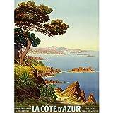 De Tanguy Cote D'azur France Reisewerbung, extra groß,