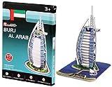 JIOSJFI Cubic Fun S3007h 3D Paper Burj Asamblea árabe AI Kit 17pc Set