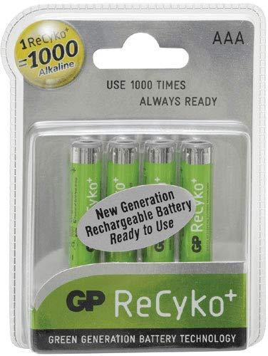 GP Battery Piles X 4 RECYKO+ 1.2 V 1000 MAH LR03 NI pour TV Audio TELEPHONIE 9373957