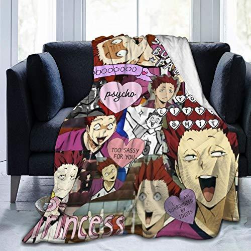 Superweiche, leichte Tagesdecke, Satori Tendou Haikyuu Sommerdecke für Bett, Couch, Sofa, 152,4 x 127,7 cm, Größe M für Teenager