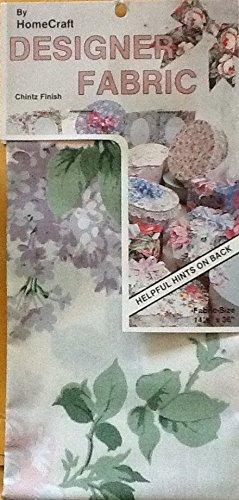 "Roses and Hydrangeas Designer Fabric - Chintz Finish 14.5"" x 36"""