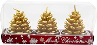 3 Pieces Christmas Candles Set Santa Snowman Pine Cone Gift House Candles for Home Party Halloween Christmas LIM&Shop
