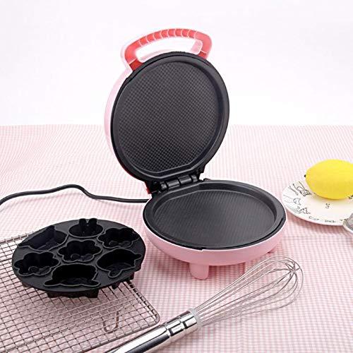220V Electric Automatic Cake Machine Mini Cartoon Waffle Sandwich Baking Multifunction Breakfast Maker UK Plug