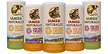 IAMS Naturally Friandises pour chats 100 % viande de poulet Qualité nutritionnelle et goût préservés – Faible en graisses – Sans : Céréales, OGM, sucres ajoutés, conservateur - Tube de 25g