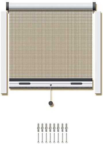 Schellenberg 70978 Insektsystem Rollo Standard für Fenster, 70 x 120 cm, weiß