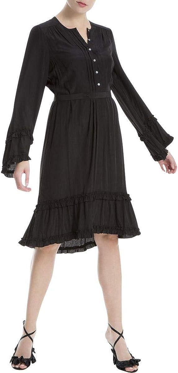 Max Studio London Womens Ruffled Shirt Dress