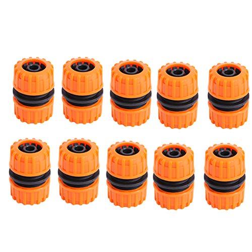 Sansund 5/10 piezas conector de manguera de jardín Juntor de reparación extendido adaptador de 1/2in Graden manguera de fijación rápida Extender conector