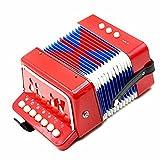 Andoer Mini Pequeño Acordeón 7-Key 2 Bass Instrumento Musical Educativo Juguete de Rhythm Band para Niños
