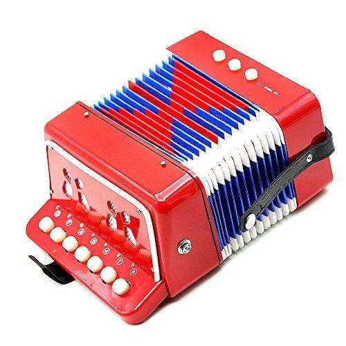 Andoer® Mini Pequeño Acordeón 7-Key 2 Bass Instrumento Musical Educativo Juguete de...