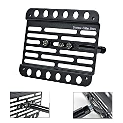 High Carbon Steel BlackPath Universal Fitment Front License Plate Bracket Relocator Black