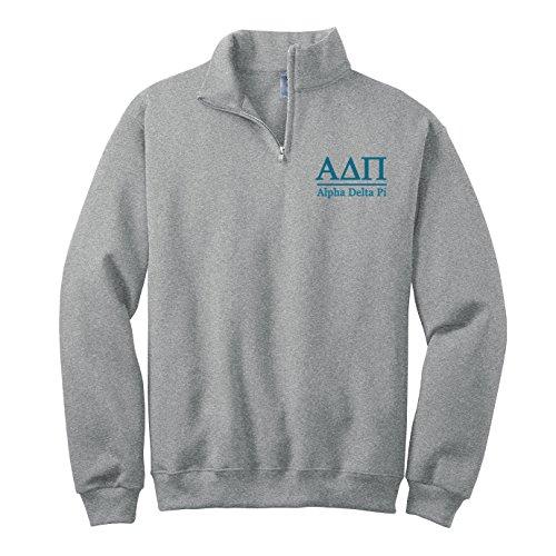 Alpha Delta Pi Quarter Zip Pullover Sweatshirt (M)