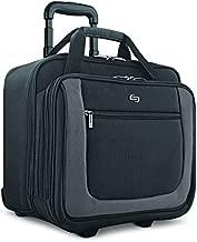 Solo New York Bryant Rolling Laptop Bag, Black/Grey, 14