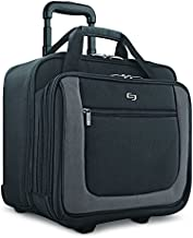 Solo New York Bryant Rolling Bag with Wheels, Fits Up to 17.3-Inch Laptop, Black/Grey, 14