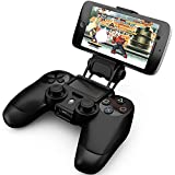 Ortz® PS4 Smart Clip Holder for PlayStation 4 Dualshock Controller - Best Clamp Bracket for Android Mobile Phones, Galaxy S3 S4 S5 S6 Note 2 3 4 & iPhone 4 4s 5 5s 6