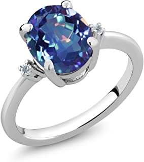 Sterling Silver Millennium Blue Mystic Topaz Women's Ring Jewelry 2.52 cttw (Available 5,6,7,8,9)