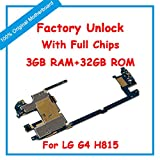 Generic 32GBMotherboard for LG G4 H815Unlock MainBoard with Full Chips IMEI Android OS Logic Board