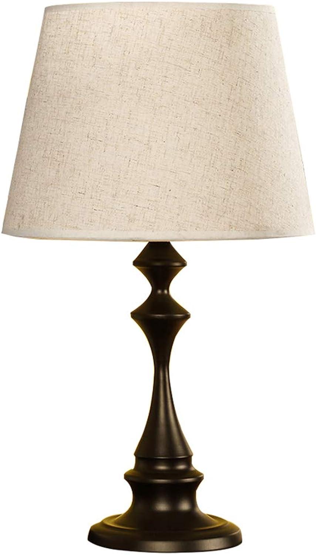 NACHTTISCHLAMPEN lixin Stoff-Tischlampen-Schlafzimmer-Schlafsaal-kreative Tischlampe (Farbe   braun, gre   50  30cm)