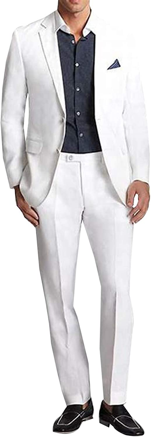 safety PG Men's Two Pieces Reservation NotchLapel Suit Buttons Classic Weddin