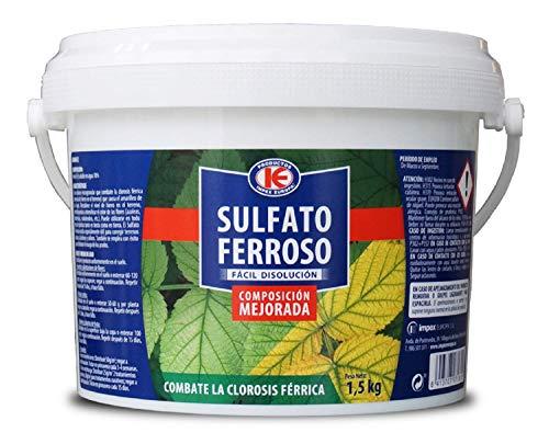 IMPEX EUROPA Sulfato Ferroso, Abono Granulado Evita la Clorosis Férrica, Ideal para Amarilleo de Hojas - Cubo 1,5 kg