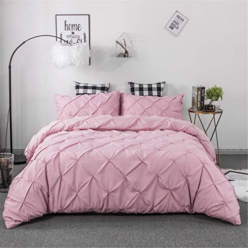 YYSZM Quilt Cover Bedding Handmade Twist Point Plain Color Simple Atmosphere Soft And Skin-Friendly 3-Piece Set (No Sheets) 260x228cm