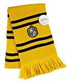 HARRY POTTER SCARF OFICIAL Casa de Hufflepuff Hogwarts School of Magic - Licencia ORIGINAL WARNER BROS
