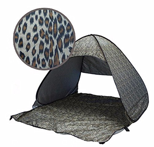 SaySure - UV protection fully sun shade Quick Automatic Leopard