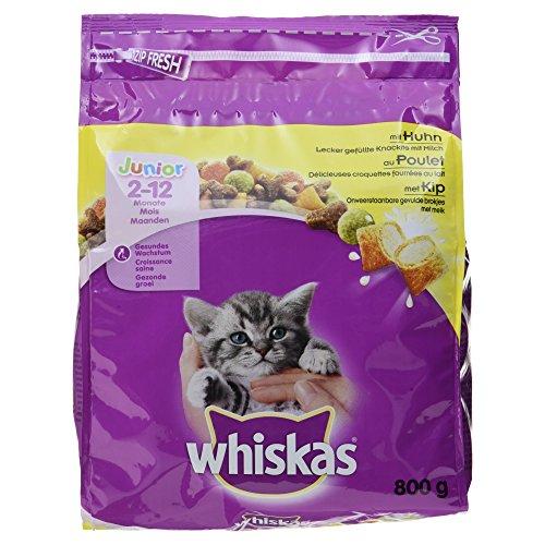 Whiskas Pienso para gatos junior con sabor Pollo (800g)