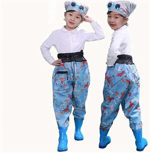QTDZ Kinder Atmungsaktiv PVC-Wathose,...