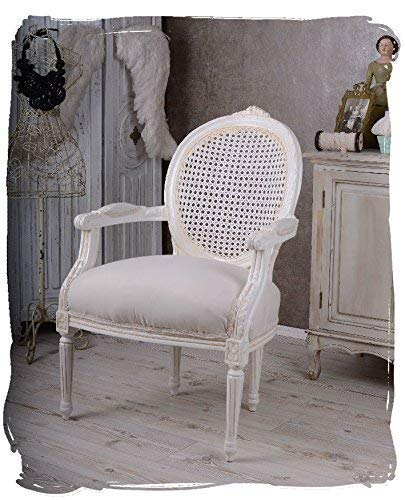 ROYAL MEDALLÓN SILLÓN LOUIS XVI ESTILO RED BLANCO PALAZZO EXCLUSIVAMENTE