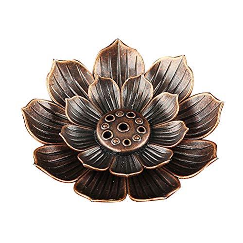 Halsey99 Multi-Holes Lotus Räucherstäbchenhalter Zink-Legierung Räucherstäbchen Platte Stock-Brenner-Halter Aschfänger Vaporizer