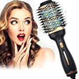 Hot Air Brush One-Step Hair Dryer Brush & Volumizer,Dry & Straighten & Curl & Comb 4 in 1 Salon Negative Ionic Hair Reduce Frizz and Static