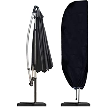 265cm Copertura Ombrello da Esterno//Parasole da Giardino Copertura Oxford Impermeabile Aimego Coperture per Ombrelloni Nero