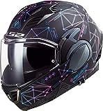 LS2, casco moto modulare VALIANT II Stellar, XL, nero opaco blu