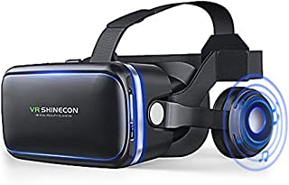 VR Headset, Virtual Reality Headset,VR Glasses,VR Goggles -for iPhone 6s/6 +/6/5, Samsung Galaxy, Huawei, Google, Moto & All Android Smartphone With Headphones & Adjustable Eye Care System