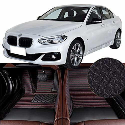 QCYP Alfombrillas para Coches Adecuado para BMW Serie 1 Facelift 125i (función de teléfono) 2018 Alfombrillas de Auto,LHD