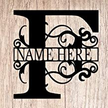 AJD Designs Personalized Last Name F Door Hanger - 20