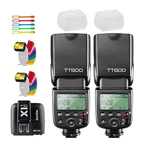 Godox 2X TT600 High Speed Sync 2.4G Wireless Camera Flash Speedlite with Godox X1T-C...